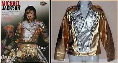 Michael Jackson World Tour Gold History Jacket+Pant MJ Costume