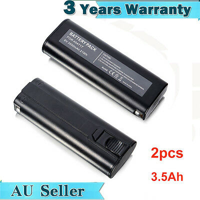 2X Battery For Paslode 6V Nail Gun 3.5Ah Ni-Mh IM250 900600 902200 900400 404717