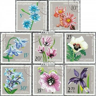 Albania 1757-1764 (complete.issue.) fine used / cancelled 1975 Flowers