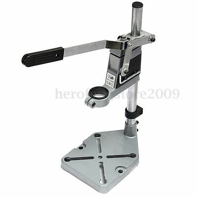 Bench Drill Press Stand Heavy Duty Clamp Metal Base Frame for Drills Collet