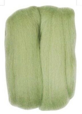 Roving Natural Wool Mint Green Clover Needle Felting (CV7937) LAST ONES