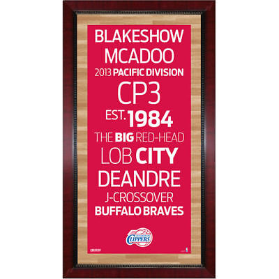 LA Clippers 16'' x 32'' Framed Subway Sign
