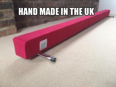 finest quality gymnastics gym balance beam  4FT long red reduced bargain