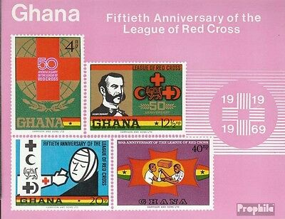 Ghana block38 (complete.issue.) unmounted mint / never hinged 1970 Red Cross