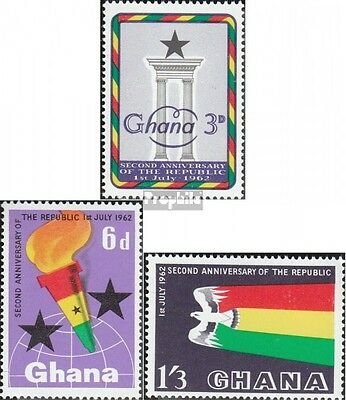 Ghana 127-129 (complete.issue.) unmounted mint / never hinged 1962 Republic