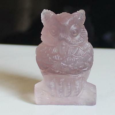 g2619  50mm Hand carved fluorite crystal owl  figurine statue