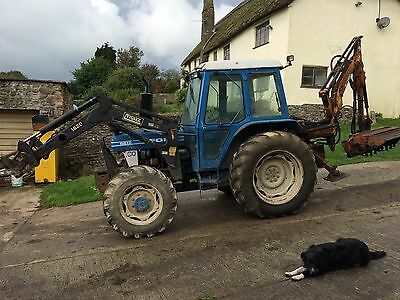 Ford 6610 4wd With TrimaLoader And Hedgetrimmer