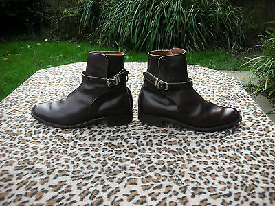Vintage handmade brown leather ankle boots UK size 8  EU 42