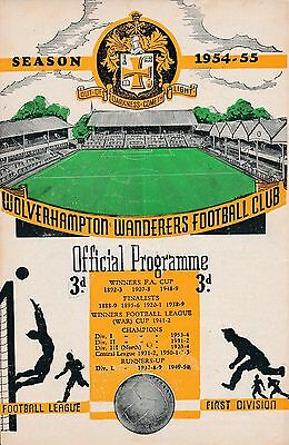 FA CHARITY SHIELD 1954: Wolves v West Brom