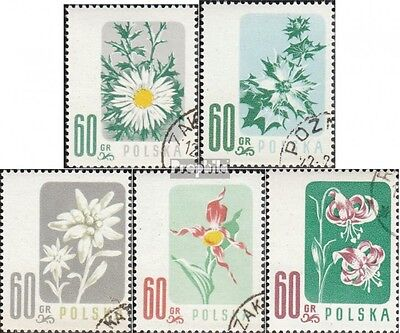 Poland 1020-1024 (complete.issue.) fine used / cancelled 1957 Protected Flowers