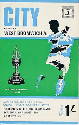 FA CHARITY SHIELD 1968 Man City v West Brom with TOKEN!