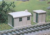 Ratio 238 Concrete Huts Pk2 Plastic Kit N Gauge