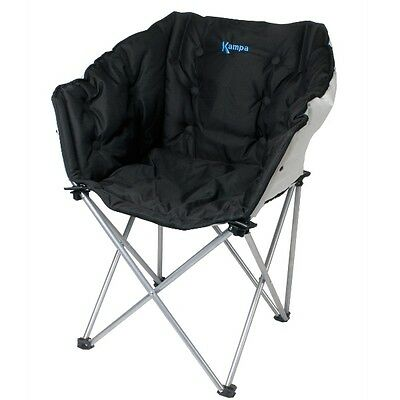 Kampa Folding Portable Camping/Camp Steel Comfortable Tub Chair