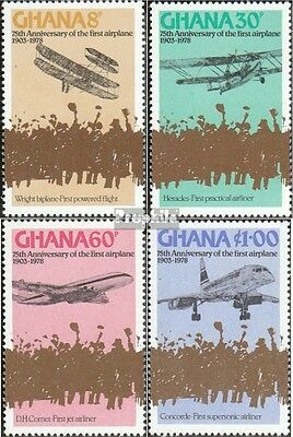 Ghana 738A-741A (complete.issue.) unmounted mint / never hinged 1978 Motorflug