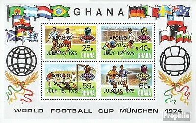 Ghana block60a (complete.issue.) unmounted mint / never hinged 1975 Apollo