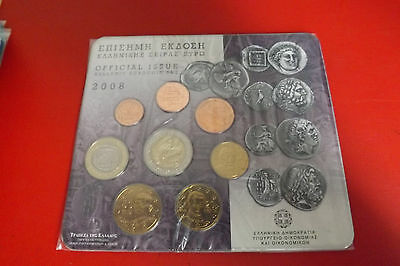 *Griechenland Euro KMS 2008 * 1 Cent - 2 Euro in Blister