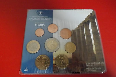 *Griechenland Euro KMS 2005 * 1 Cent - 2 Euro in Blister
