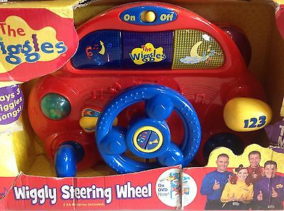 THE WIGGLES Wiggly Steering Wheel Plays Songs, Lights, Car Sounds Batteries