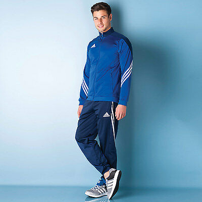Mens adidas Mens Sereno 14 Tracksuit in Blue - XL From Get The Label