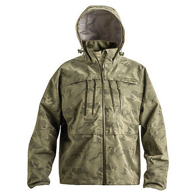 Vision Sade Fly Fishing Waterproof Breathable Camo ¾ Jacket Sizes M-XXL