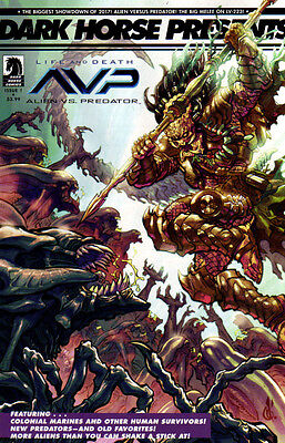 ALIENS VS PREDATOR Life and Death (2017) #1 30th Anniversary VARIANT Cover