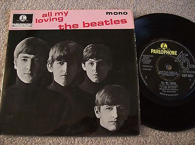 """The Beatles - All My Loving Sold In Uk Press 7"""" Ep Single (1963) Gep 8891"""
