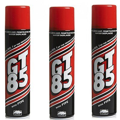 GT85 X 3 Cans PTFE Chain Lubricant Water Displacer 400ml Bicycle Bike Cycle Oil