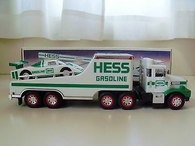 1988 Hess Toy Truck - Toy Truck And Racer - Box