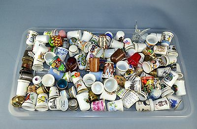 120 Assorted Collectable Thimbles