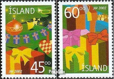 Iceland 1024-1025 (complete.issue.) unmounted mint / never hinged 2002 christmas