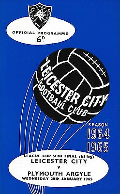 LEAGUE CUP SEMI FINAL 1965: Leicester City v Plymouth
