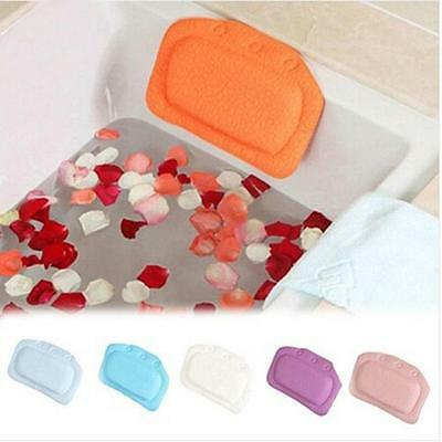 PVC Bath Spa Bathtub Pillow With Suction Cups For Bathroom Relax Comfortable Z