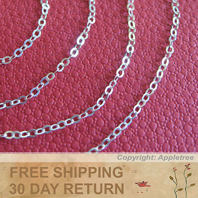 1200'' Solid Sterling Silver Cable Chain 100 Ft For DIY Sterling Silver Necklace