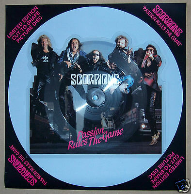 SCORPIONS Passion Rules The Game UK vinyl shaped picture disc UNPLAYED