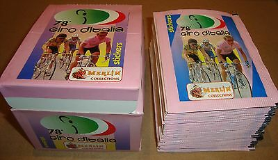 50 Bustine Figurine + Box Merlin Collections 78^ Giro D'italia (Stickers)