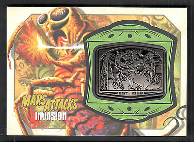 MARS ATTACKS! INVASION (Topps/2013) MANUFACTURED MEDALLION CARD #MM-5