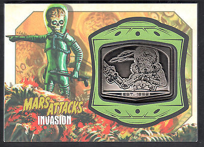 MARS ATTACKS! INVASION (Topps/2013) MANUFACTURED MEDALLION CARD #MM-12