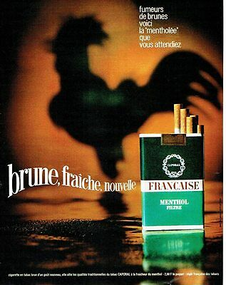 Other Breweriana Publicite Advertising 045 1970 Francaise Cigarettes Filtre