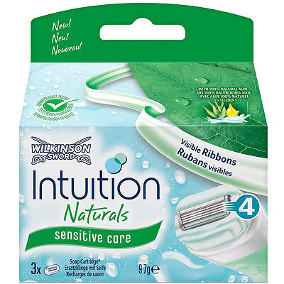 6 Wilkinson Intuition Naturals Sensitive Care Rasierklingen Neu
