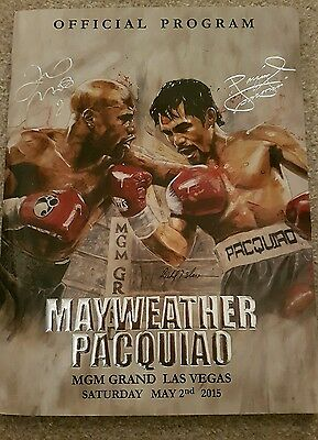 mayweather vs pacquiao official programme