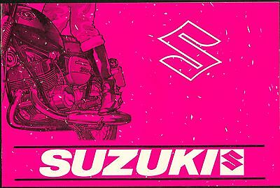 Suzuki Brochure 1969 T200 Invader T500 MII 1965  T250 Hustler New Old Stock