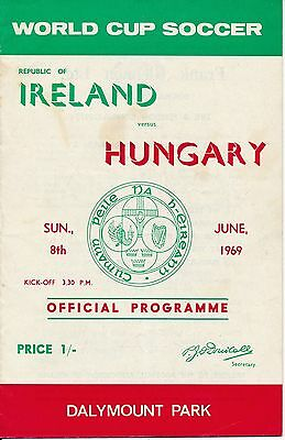 Republic of Ireland v Hungary (World Cup Qualifier) 1969