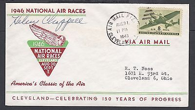 Usa 1946 Female Pilot Helen Chappell Signed National Air Race Cover Cleveland