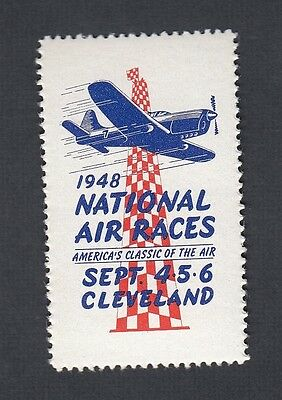 Usa 1948 National Air Races Cleveland Ohio Label Cinderella Stamp