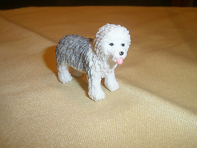 Collectible Miniature Mini Old English Sheepdog Figurine Plastic PVC ~ EUC