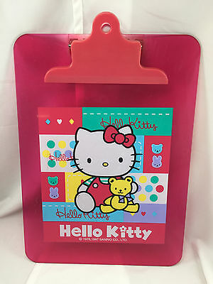Hello Kitty Pink Transparent Clipboard Clip Board Surface