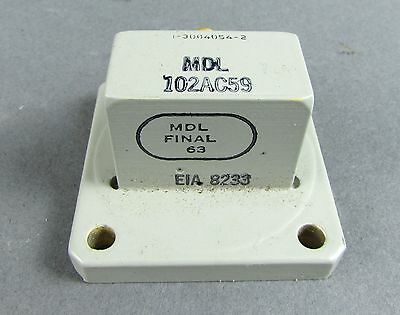 MDL 102AC59 Coaxial Waveguide Adapter - WR-102, 7 Ghz - 11 Ghz