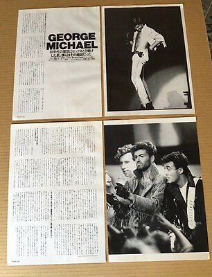 1986 George Michael 6pg 3 photo JAPAN mag article / press clipping wham! g9r