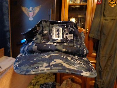 Digital Blue 8 Point Cover Hat Nwu Lt  Rank 03  W/ Navy Ace 7 1/8