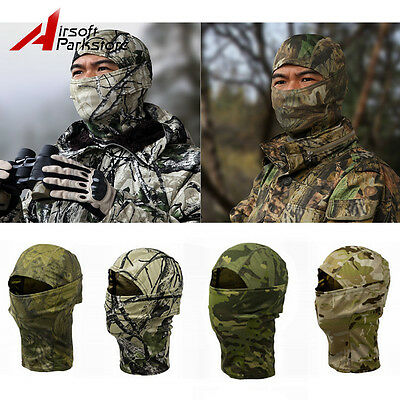 Outdoor Hunting Bionic Camouflage Winter Warm Full Face Mask Hood Scarf Hat